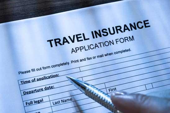 travel insurance application